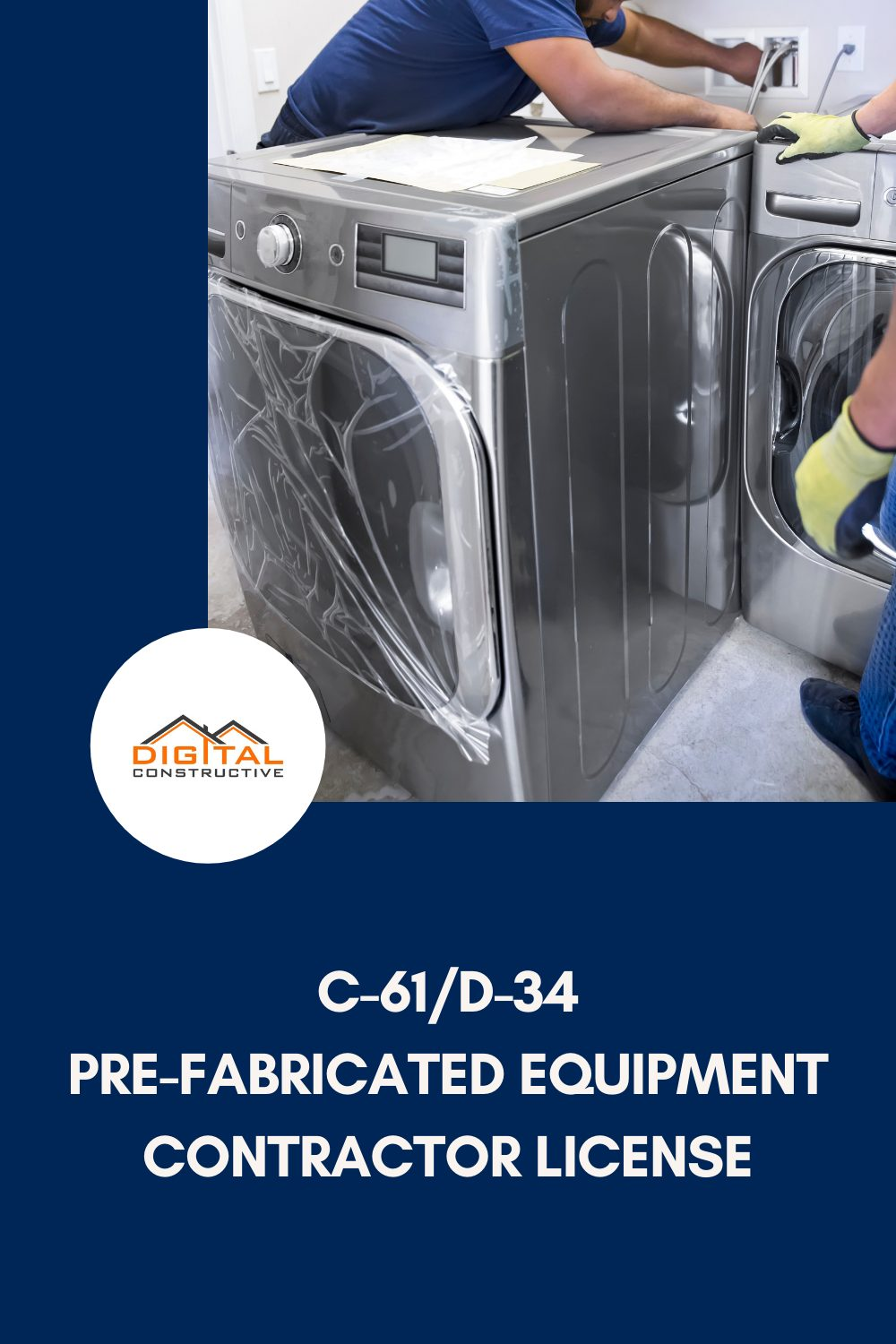 What kinds of jobs can you do with a C-61 contractors license for pre-fabricated equipment installation in California